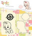 DADA Set Die & Clear Stamp Its A Girl Crawling