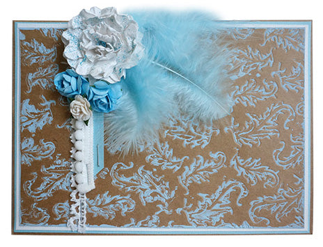 Embossing Folders - Tickle Me Feathers - Who What Wear Collection