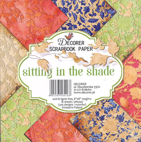 "Decorer 8"" x 8"" Scrapbook Paper Set - Sitting In The Shade"