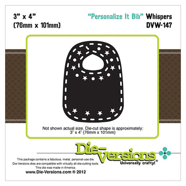 Die Versions - Whisper - Personalize It Bib