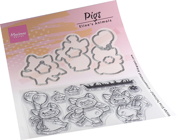 Clear Stamps Eline's Animals - Pigs