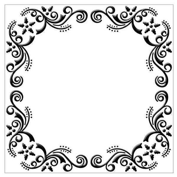 Embossing Folder - Flower Christmas Frame (Square)