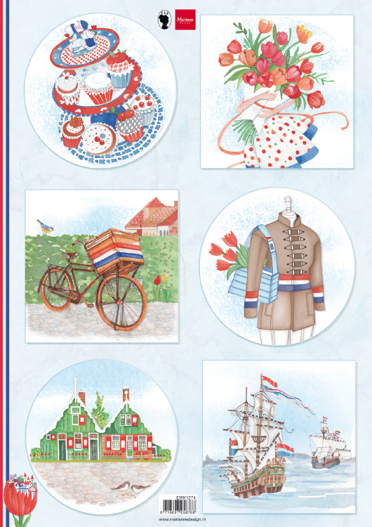 Cutting Sheet I Love Holland - Bicycle A4