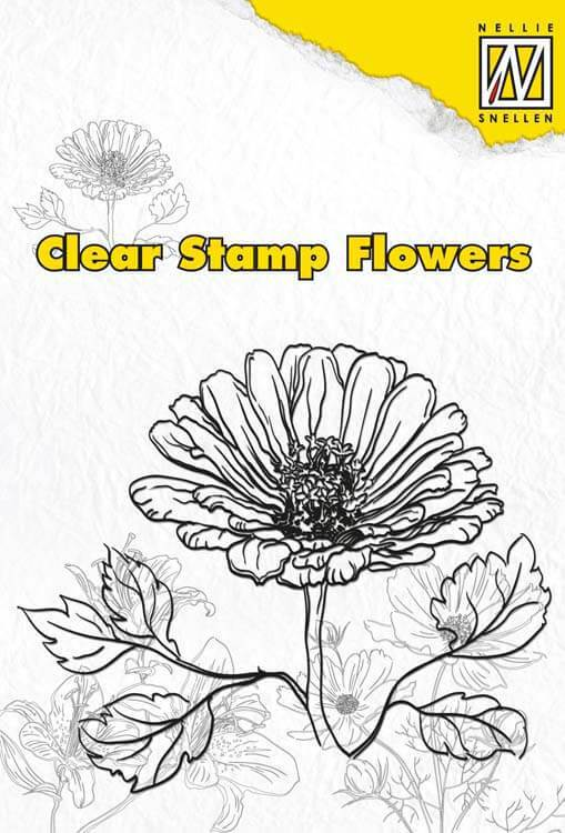 Nellie's Choice Clear Stamp Flowers - Marguerite