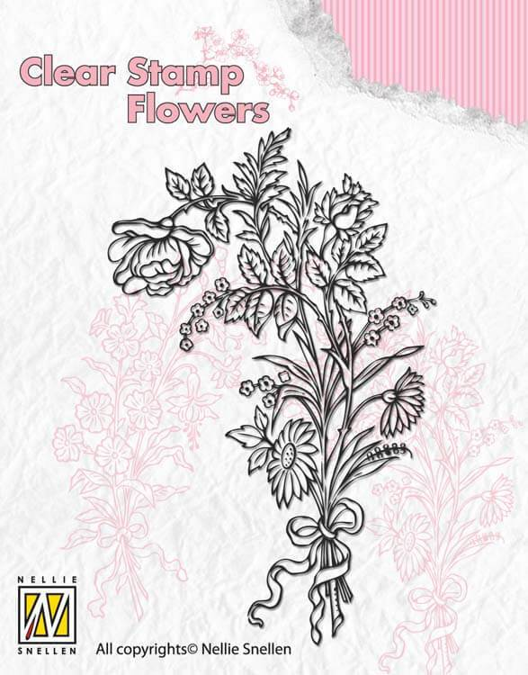 Nellie's Choice Clear Stamp Flowers - Bouquet 1