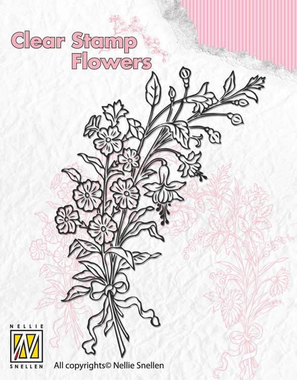Nellie's Choice Clear Stamp Flowers - Bouquet 2