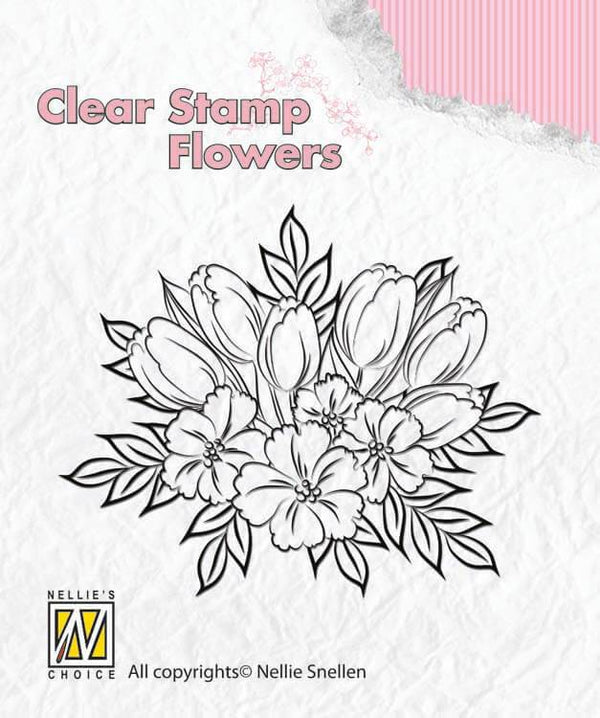 Nellie's Choice Clear Stamp Flowers - Crocuses
