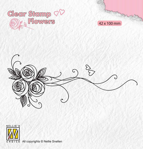 Clear Stamps Flowers Bouquet Roses 1