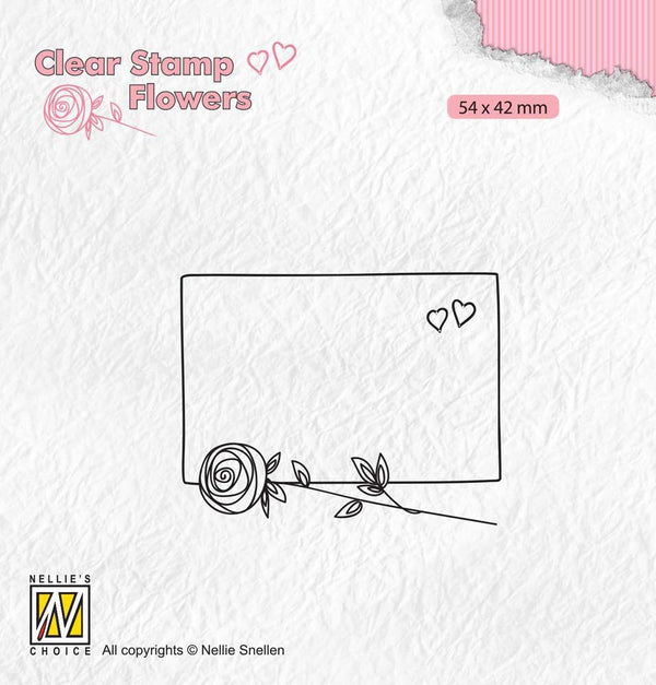 Clear Stamp Flowers Frame With Rose