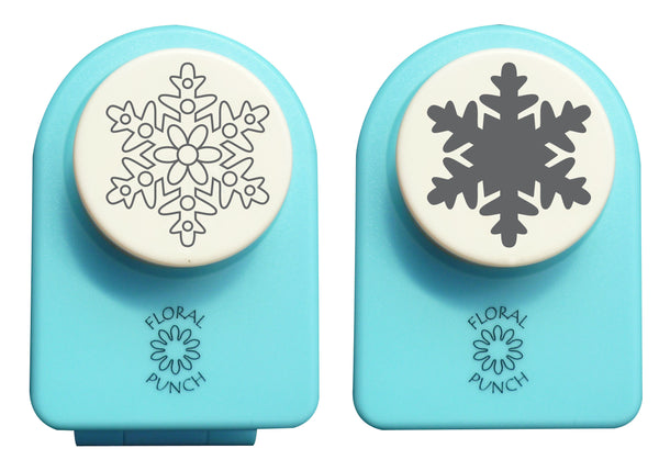 Floral punch medium set - snowflake