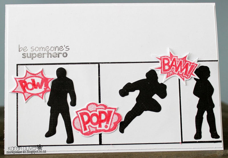 Frantic Stamper Clear Stamp Set - Superheroes