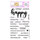 Frantic Stamper Clear Stamp Set - Giant Happy
