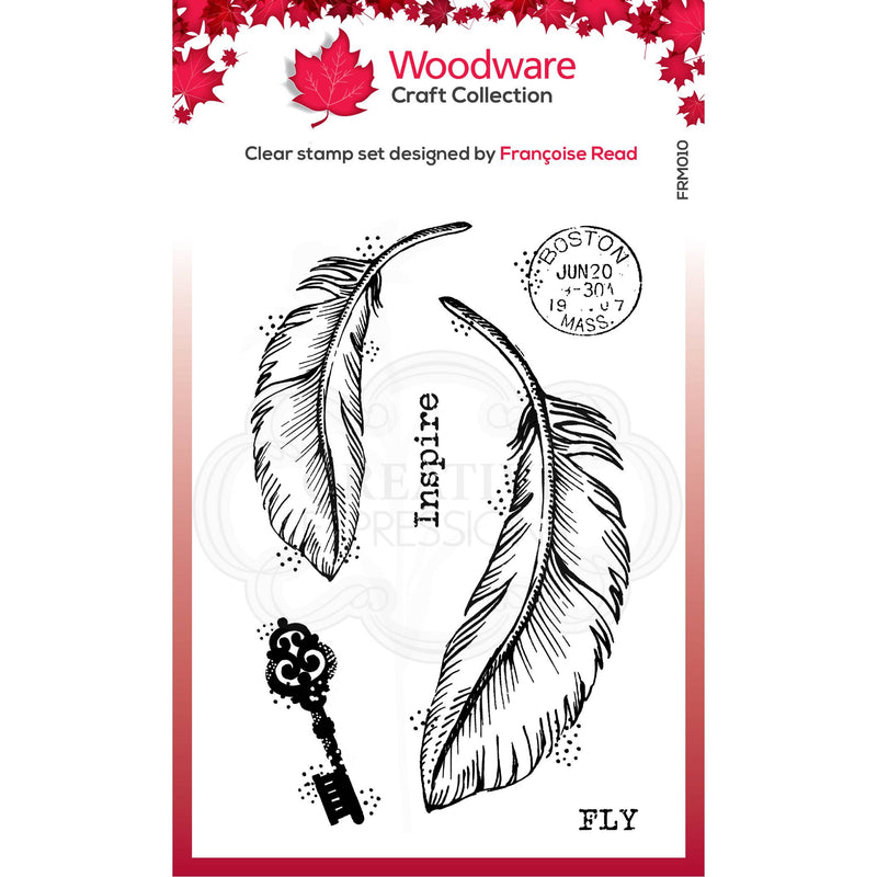 Woodware Clear Singles Two Feathers