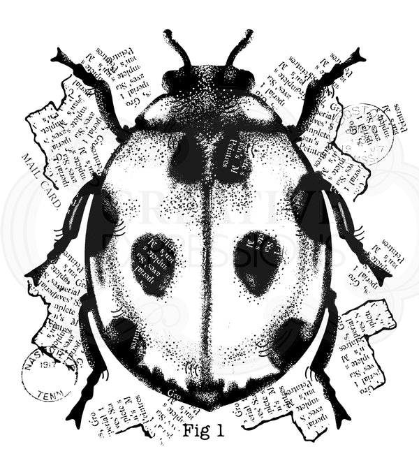 Woodware Clear Singles Ladybird 4 in x 4 in Stamp