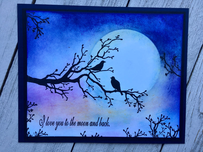 Frog's Whiskers Ink Stamps - Moon & Back