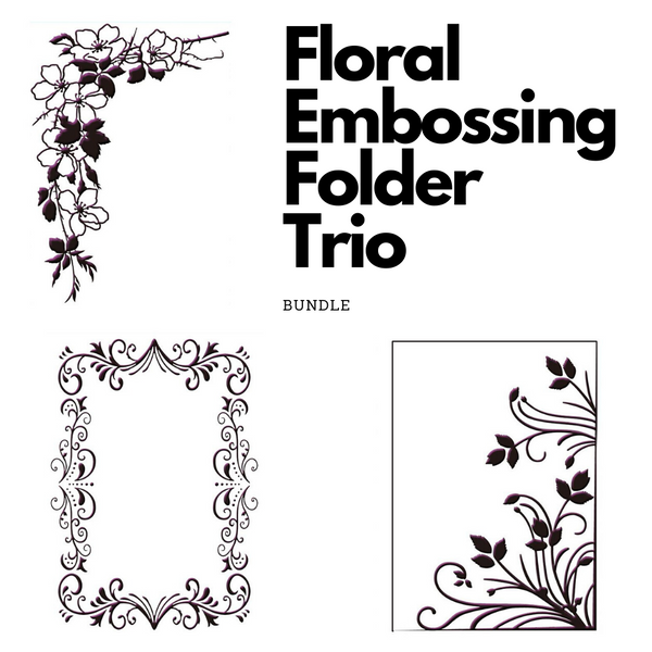 Floral Embossing Folder Trio Bundle