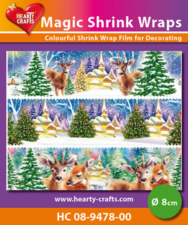 Hearty Crafts Magic Shrink Wraps. Winter (8cm)