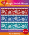 Hearty Crafts Magic Shrink Wraps. Ice Crystals  (10cm)