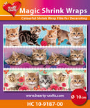 Hearty Crafts Magic Shrink Wraps. Cats (10cm)