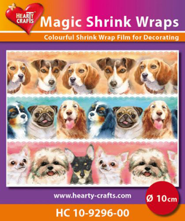 Hearty Crafts Magic Shrink Wraps. Dogs  (10cm)