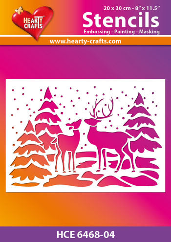 Hearty Crafts Deer in Forest Stencil 8 x10