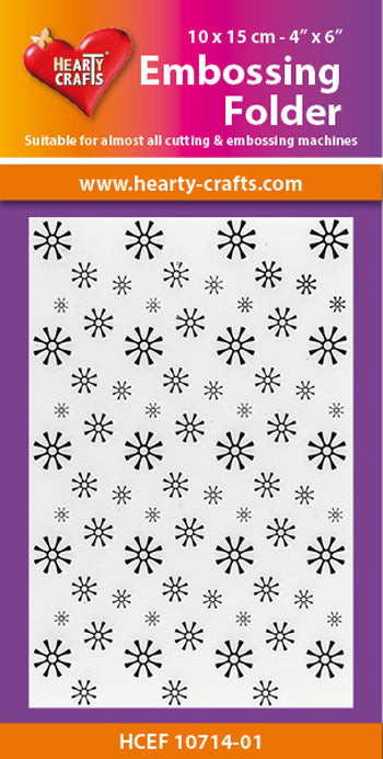Hearty Crafts Embossing Folder Snowflake 4 X 6