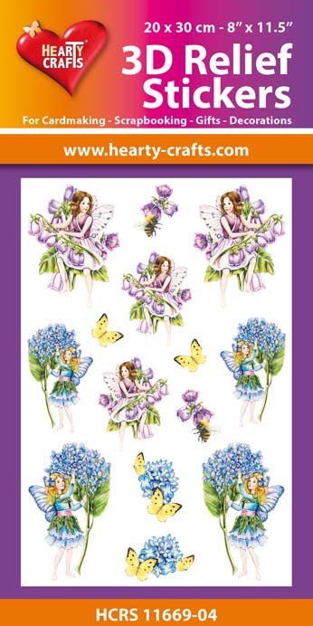 3D Relief Stickers A4 - Garden Fairies 4
