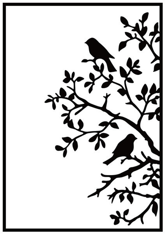 Nellie's Choice - Hobby Solution Embossing Folders - Birds On Branch