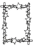 Hobby Solution Embossing Folder Christmas - Frame with Stars