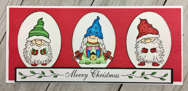 Patsy Gnome Rubber Cling Stamp