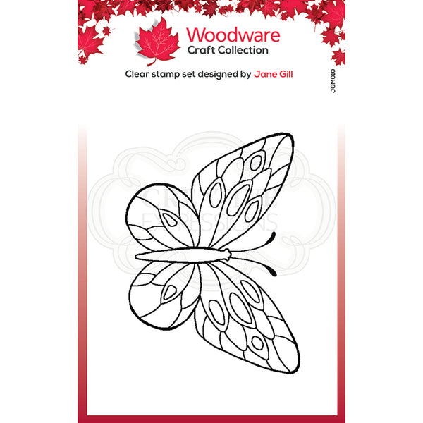 Woodware Clear Singles Mini Wings - Tortoiseshell  2.6 in x 1.7 in Stamp