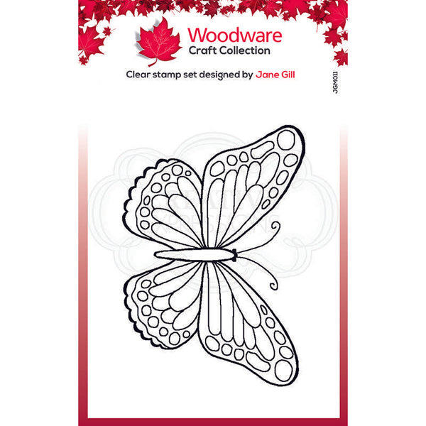 Woodware Clear Singles Mini Wings - Marsh Fritillary 2.6 in x 1.7 in Stamp