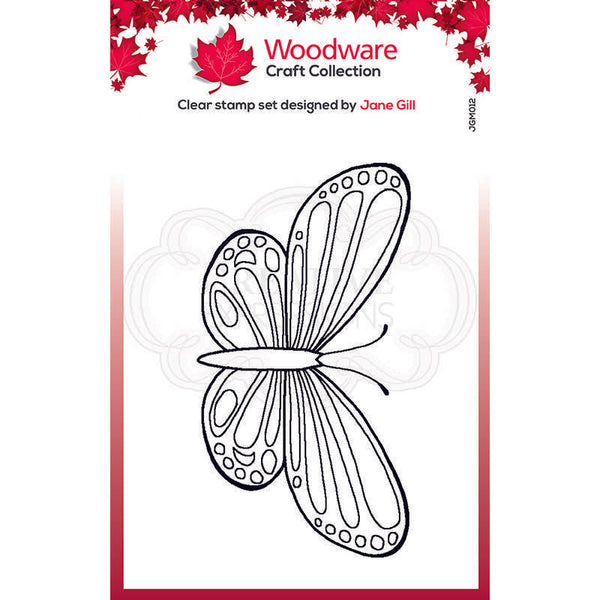 Woodware Clear Singles Mini Wings - Common Blue 2.6 in x 1.7 in Stamp