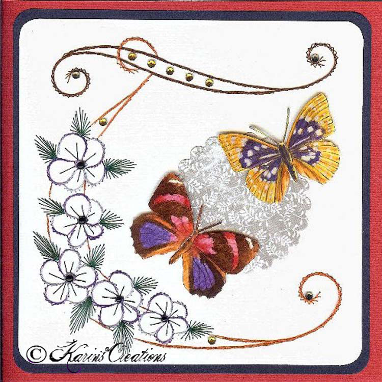 KC Embroidery Pattern - Flower Corner