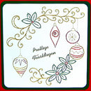 KC Embroidery Pattern - Holly & Ornaments