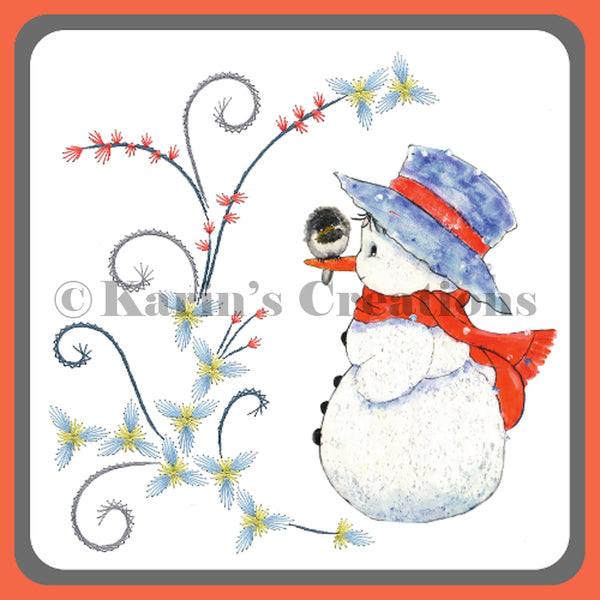 KC Embroidery Pattern - Buds of Winter