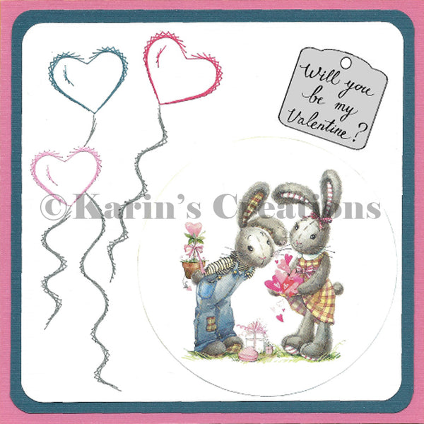 KC Embroidery Pattern - Heart Ballons