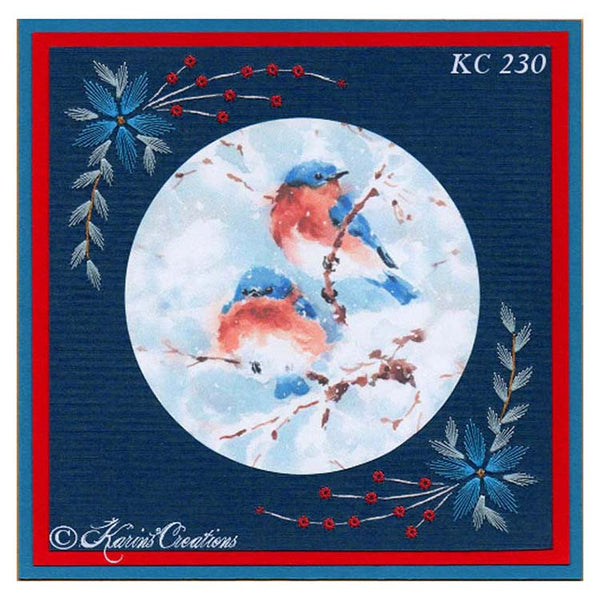 KC Embroidery Pattern - Winter Berries