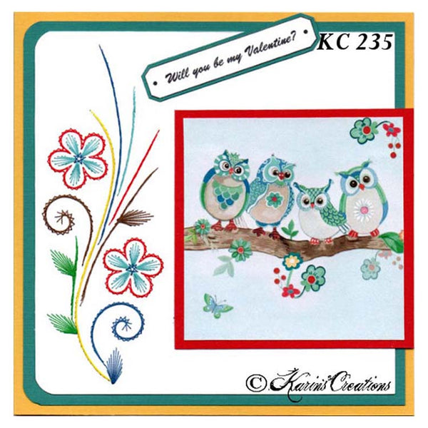 KC Embroidery Pattern - Wildflower Sprig
