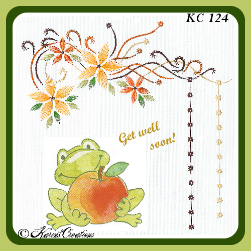 KC Embroidery Pattern -Flowers From Above