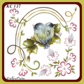 KC Embroidery Pattern - Oval Leaves and Flowers