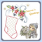 Embroidery Pattern - Stocking and Poinsettia