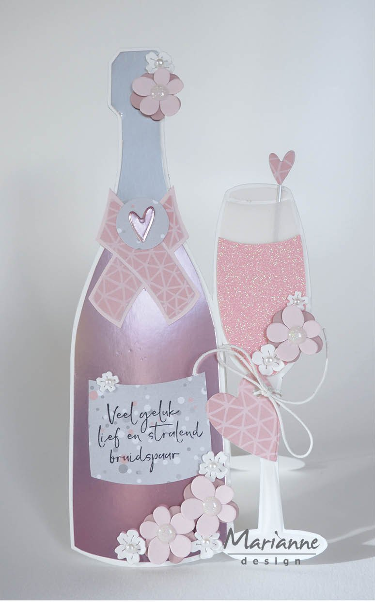 Craft Stencil Champagne by Marleen