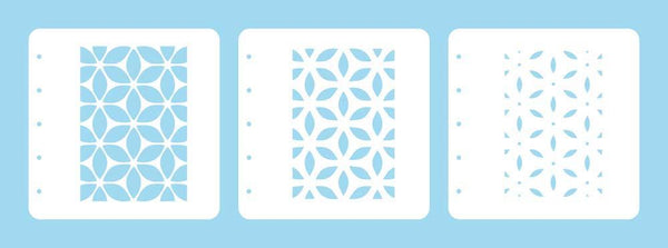 Layered combi stencil set (set of 3) Flower