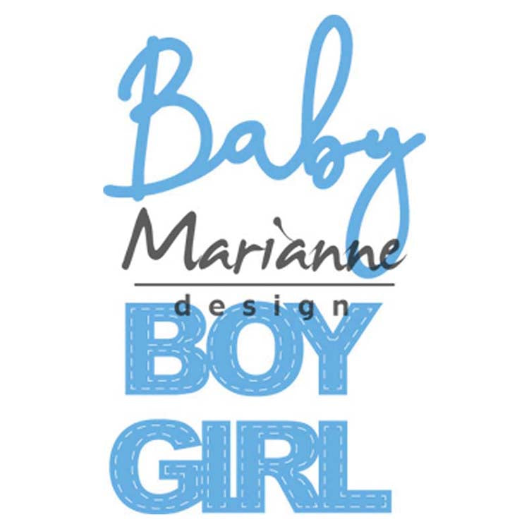 Marianne Design Creatables Baby Text Boy & Girl