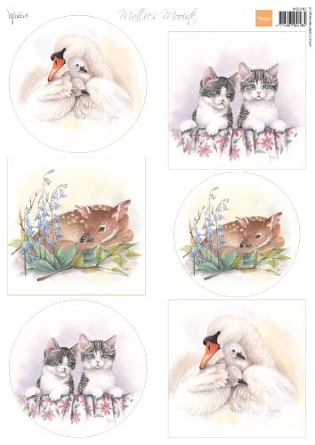 Cutting Sheet Mattie's Mooiste Baby Animals A4