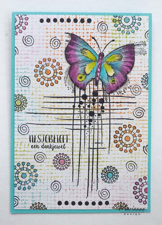 Marianne Design Stamps Doodle stripes