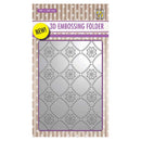 Nellie's Choice 4 x 6  3D Embossing Folder Background Flowers 2