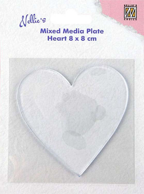 Nellie's Choice - Mixed Media Plate Heart