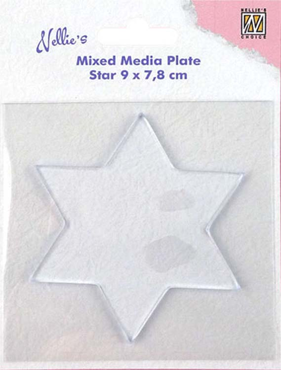Nellie's Choice - Mixed Media Plate Star